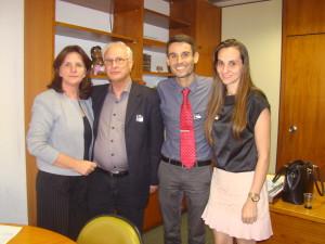 Deputada Federal Carmen Zanotto/ Prof. Edison da Rosa/ Sergio Luis Schlatter Jr./ Stefania Bragagnolo